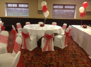 Red Ribbon Chair Covers